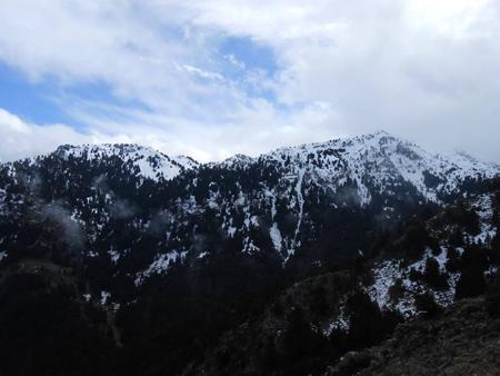 Η διαδρομή χιονισμένη